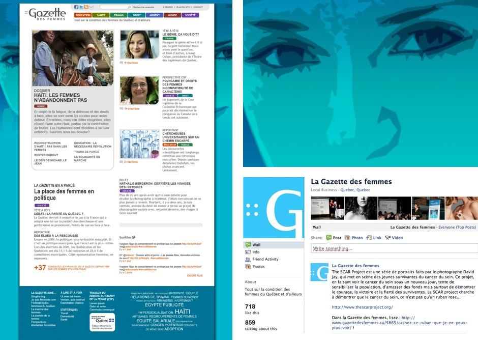 Gazette des femmes - webzine - Facebook - Twitter